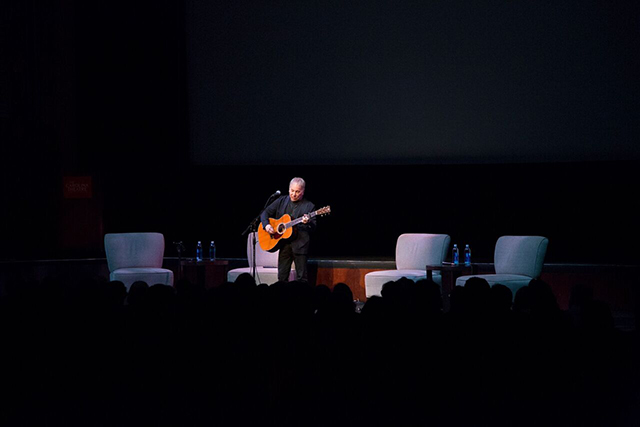 Paul Simon performs during Biodiversity Days. Photo by Chris Sims, E.O. Wilson Biodiversity Foundation.