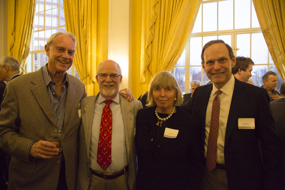Ike Williams (EOWBF Board Member), Jim Stone (The James M. and Cathleen D. Stone Foundation), Cathy Stone (The James M. and Cathleen D. Stone Foundation), David Prend (EOWBF Board Chairman)