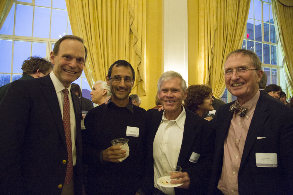 David Prend (EOWBF Board Chairman), Ignacio Jimenez (Tompkins Conservation), Rick Ridgeway (Patagonia), Thomas Lovejoy (George Mason University, Half-Earth Council)