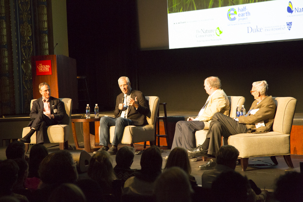 T. Lovejoy (George Mason University, Half-Earth Council), L. Psihoyos (Oceanic Preservation Society, Half-Earth Council), J. Seager (Population Connection, Half-Earth Council), E.O. Wilson