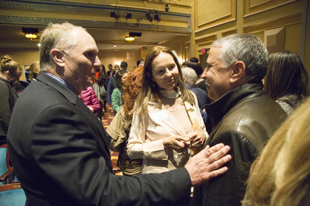 Gregory Miller (NatureServe), Marcia Angle (EOWBF Board Member), Tom Friedman (NY Times)
