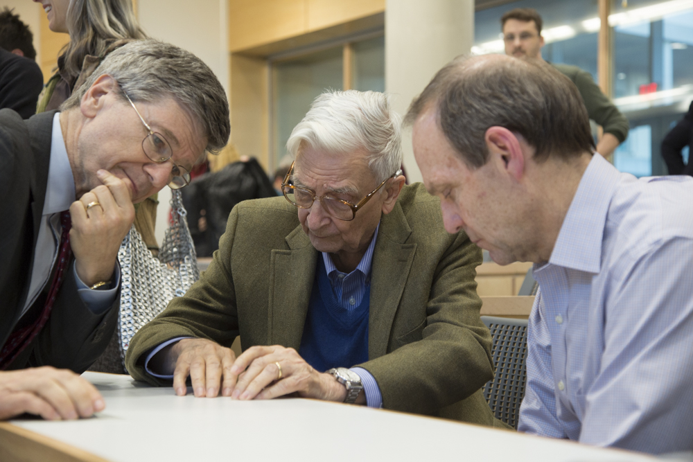 Jeff Sachs (Columbia University, Half-Earth Council), Edward O. Wilson, David Prend (WOWBF Board Chairman)