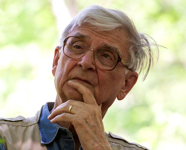 E.O. Wilson, pictured here in the Red Hills of Alabama in 2010, will be honored with the World Ecology Award this Friday in St. Louis. Credit: Beth Maynor Finch.