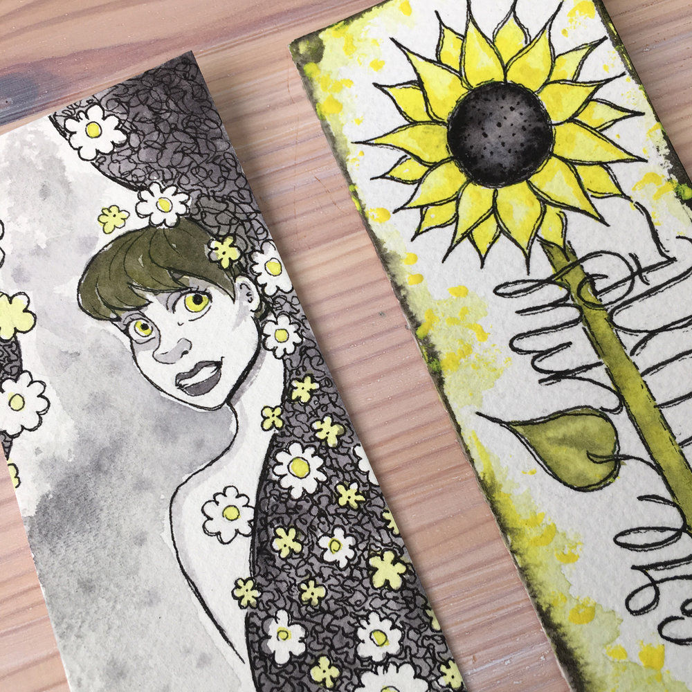 Dani Claire. Mother Daughter Art Challenge. Same Art Supplies, Two Results. Watercolor Art. Watercolor Artists. artsnackschallenge. Art Snacks. Hand Letter Artist. Handlettering. Sunflower art. Girlie Art. You Are My Sunshine.