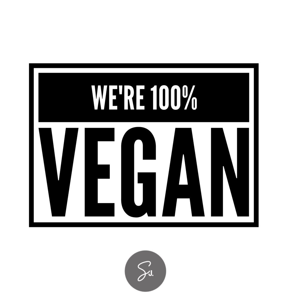 We're 100% Vegan