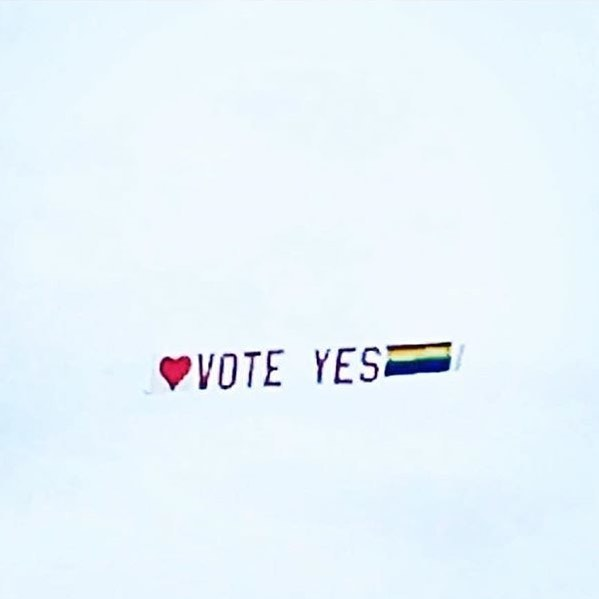 We vote for LOVE ❤️ #saliajac #voteyes RP @nadeneduncanstylist