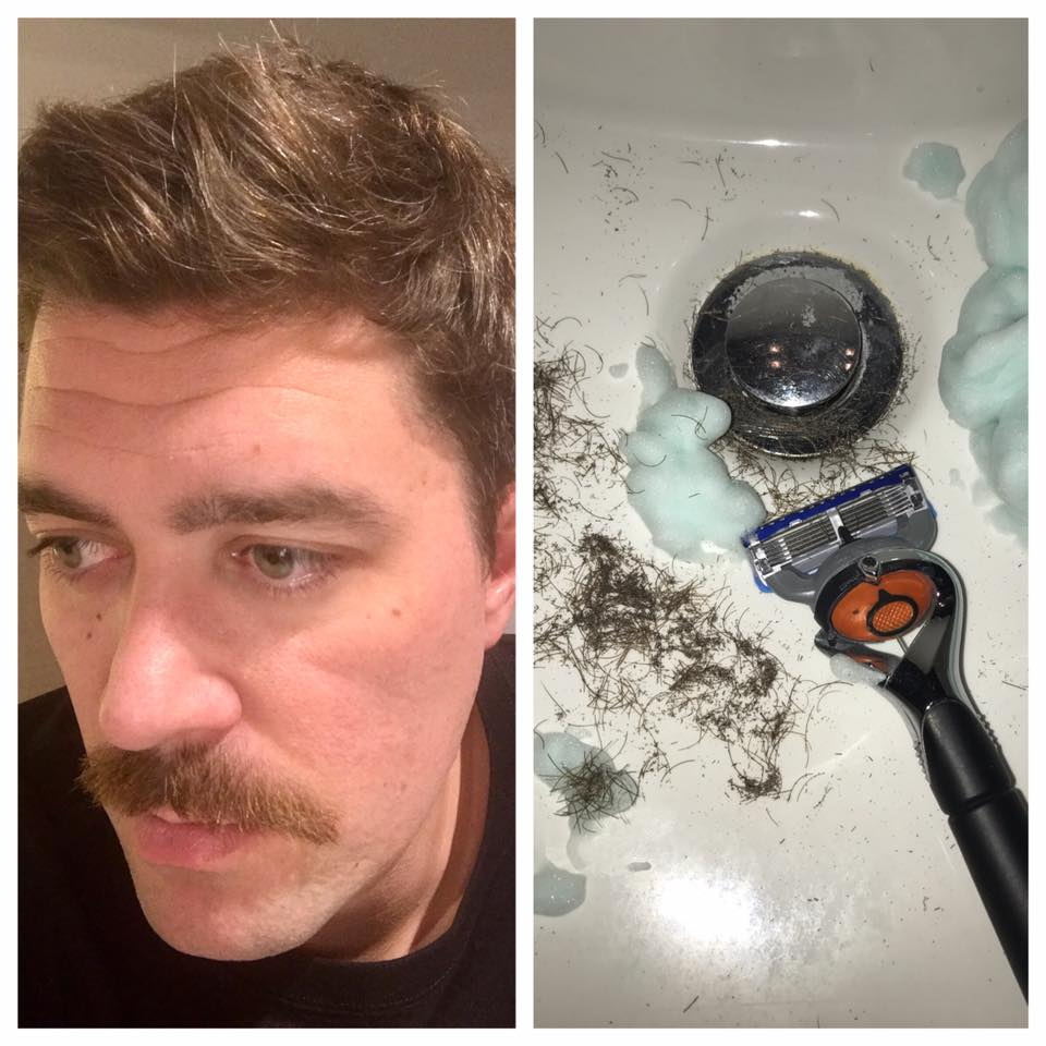 """""""I was so consumed with battling my mustache over the past 30 days, that finally, when it was all over, I feel like of piece of me is now missing. . ."""""""