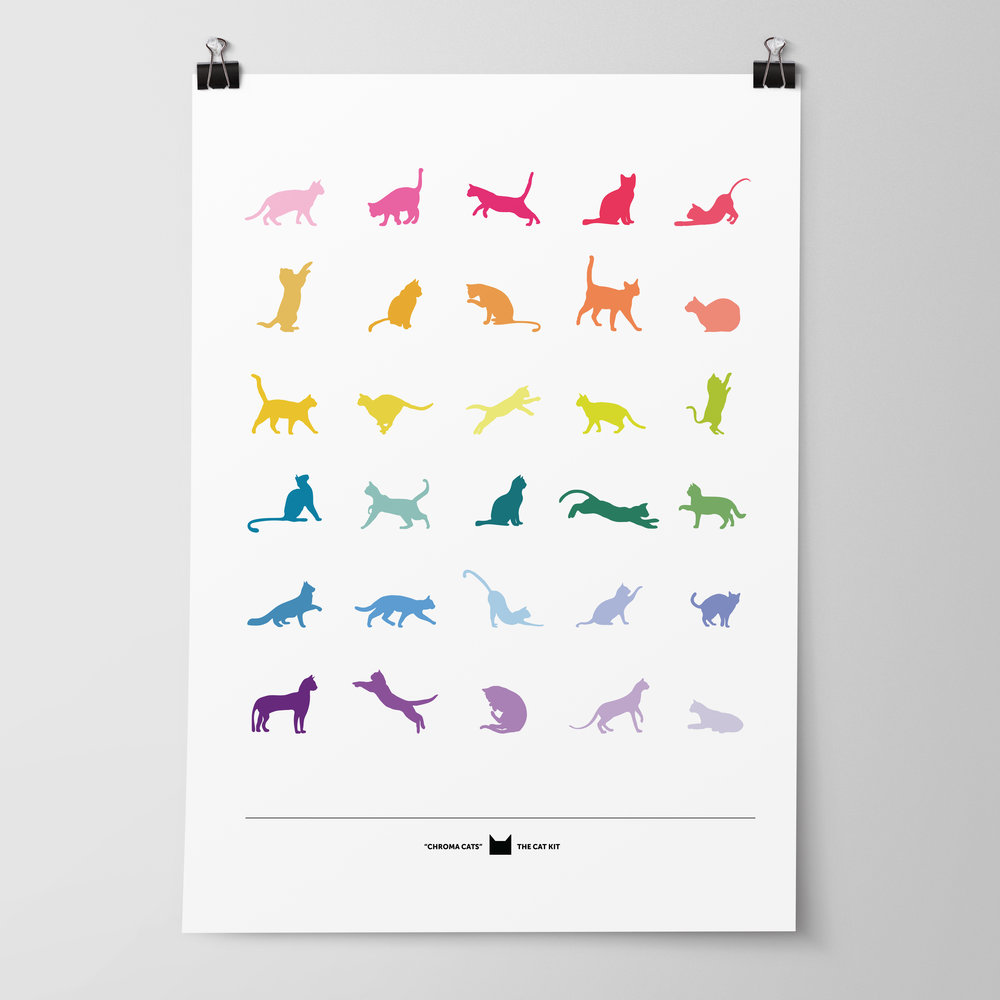 Chroma Cats Poster