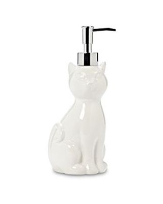 We're working on cat-ifying all rooms of your house... even the bathroom (or kitchen!). Our monthly box last month included this ceramic soap/lotion dispenser from @abbottgiftware. 😻🛁🚿