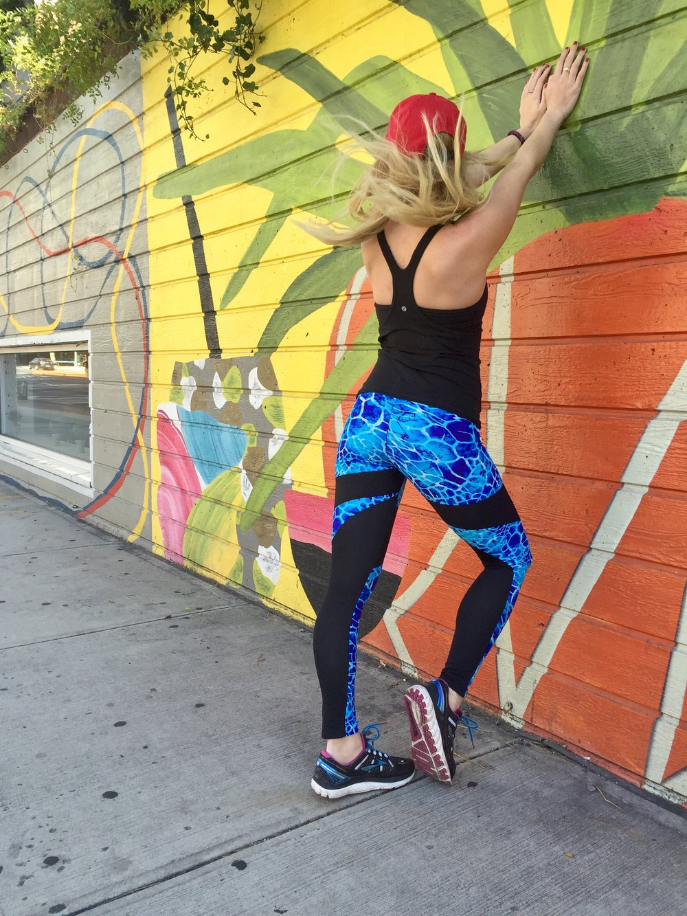 Top: Lululemon, Leggings: Zion's Den Apparel, Sneakers: Brooks Running