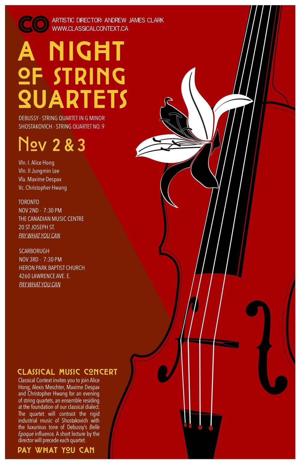 A Night of String Quartets - Nov 2018
