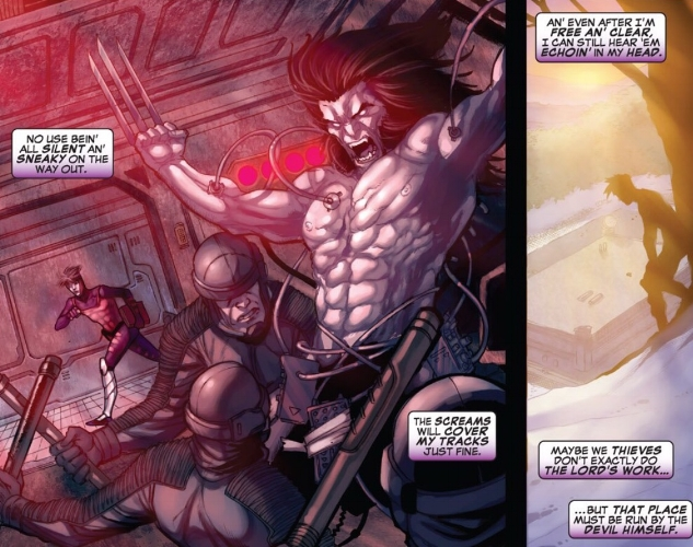 Gambit in the Weapon X Facility ( Weapon X: First Class #3 )