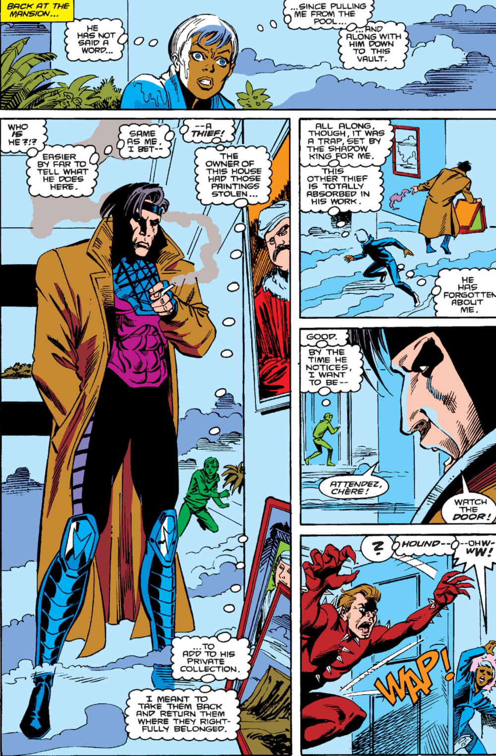 Gambit's first full appearance in  Uncanny X-men #266 .