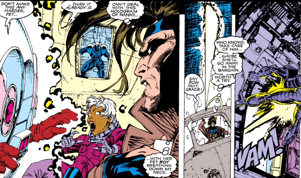 The first published occasion that Gambit used kinetically charged playing cards is  Uncanny X-Men #267 .