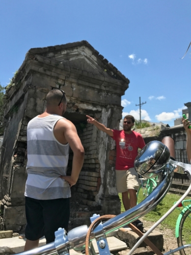 Visiting St. Louis Cemetery #2 on our Heart of the City Tour