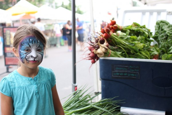 face paint at farmers market