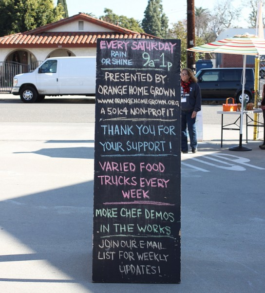 orange county farmers market sign