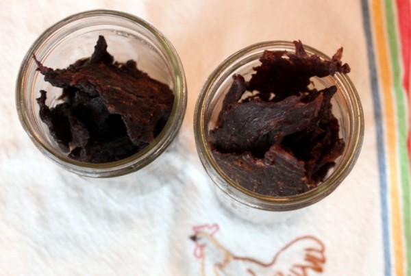 homemade jerky in jars