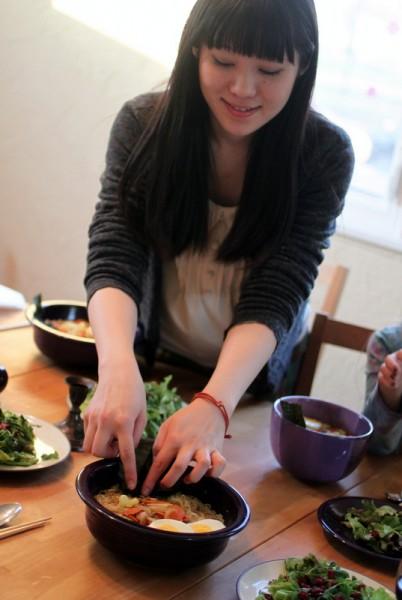 Japanese serving ramen
