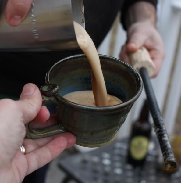 pouring rum flip