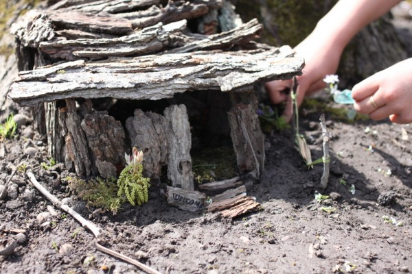 adjusting fairy house