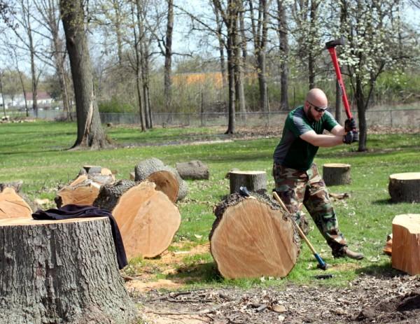 exercise by log splitting