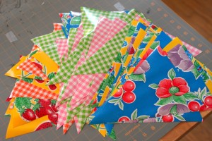 oilcloth triangles