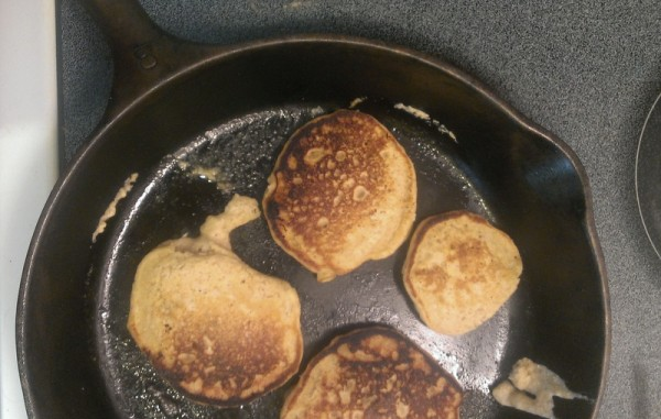 unevenly cooked pancakes
