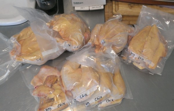 cornish cross chicken meat packaged