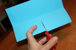 make a paper book: cut the middle