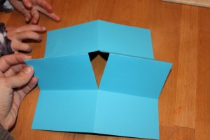 make a paper book - folded and cut