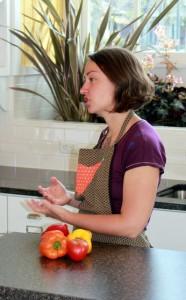 rachel tayse teaching at franklin park kitchen