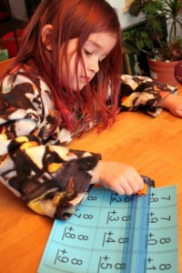 homeschool making flashcards