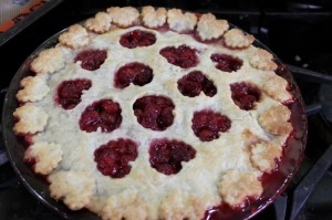 baked sour cherry pie