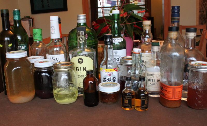 liquor cabinet contents
