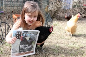 newspaper cover model chicken