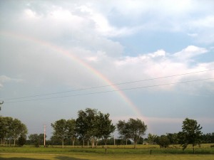 rural rainbow landscape