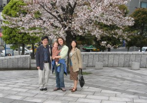 ohio family visits Japan