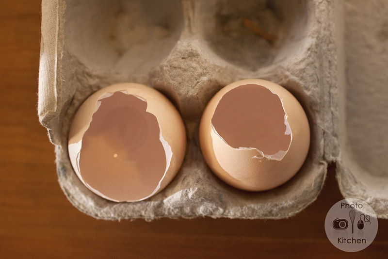 empty eggshells for seedlings