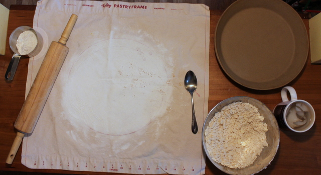 pie crust mise en place