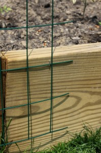 stapling garden fencing