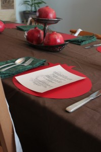 family dinner table setting