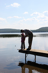 teaching a child to fish