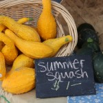 summer squash at new albany farmers market