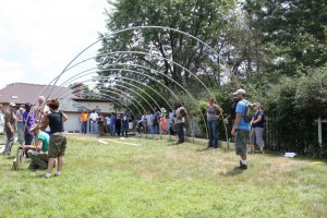 growing power hoop house building