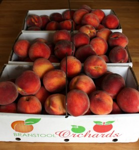 43 pounds of peaches