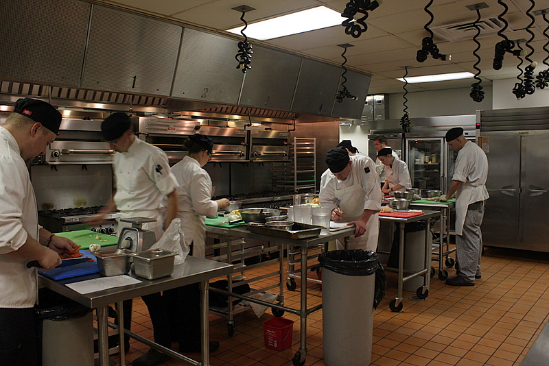 prepping at CSCC culinary