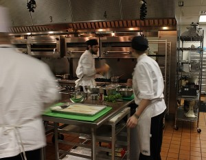 blur of working chef apprentices