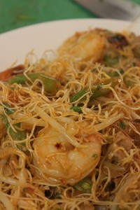 shrimp and noodles dish