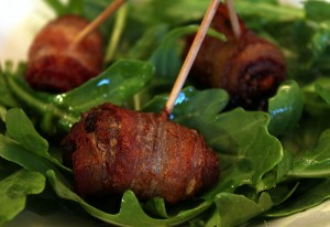 bacon wrapped date appetizer